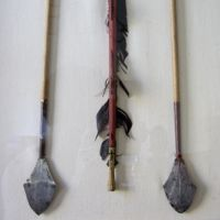 Museum case of arrows