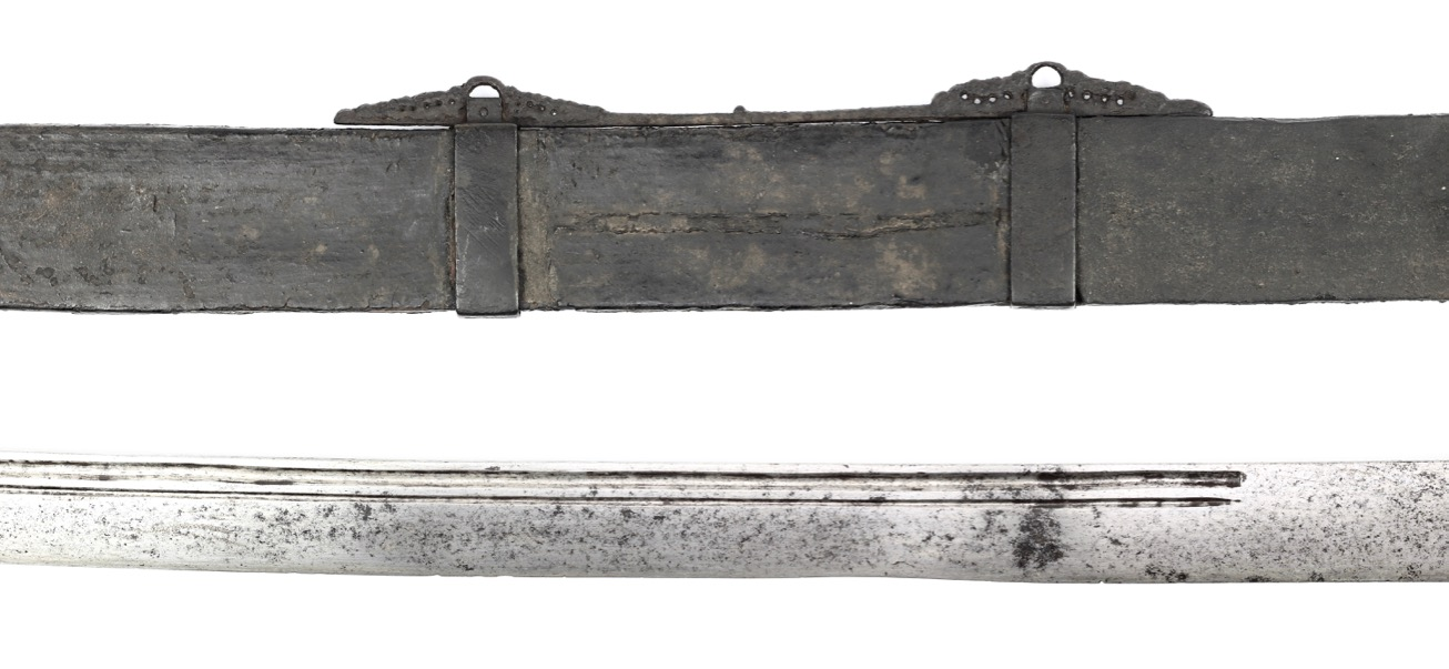 A classic Chinese iron mounted saber