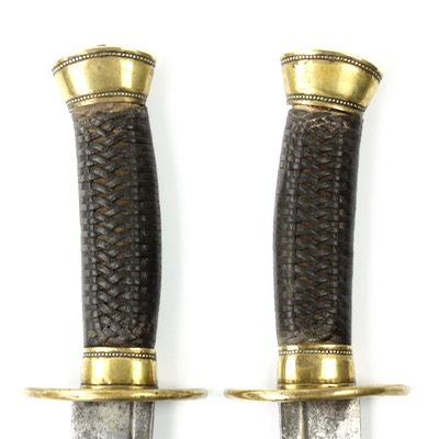 A set of Chinese double sabers of liuyedao form.