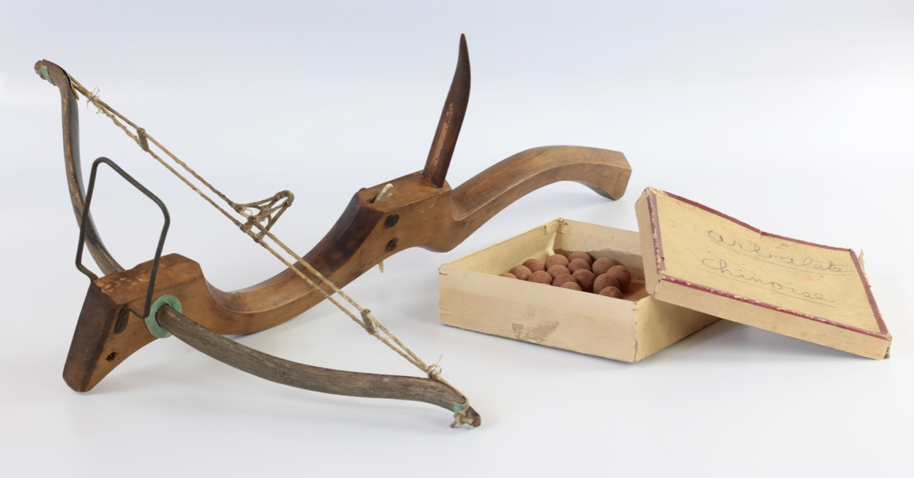 An antique Chinese pellet crossbow