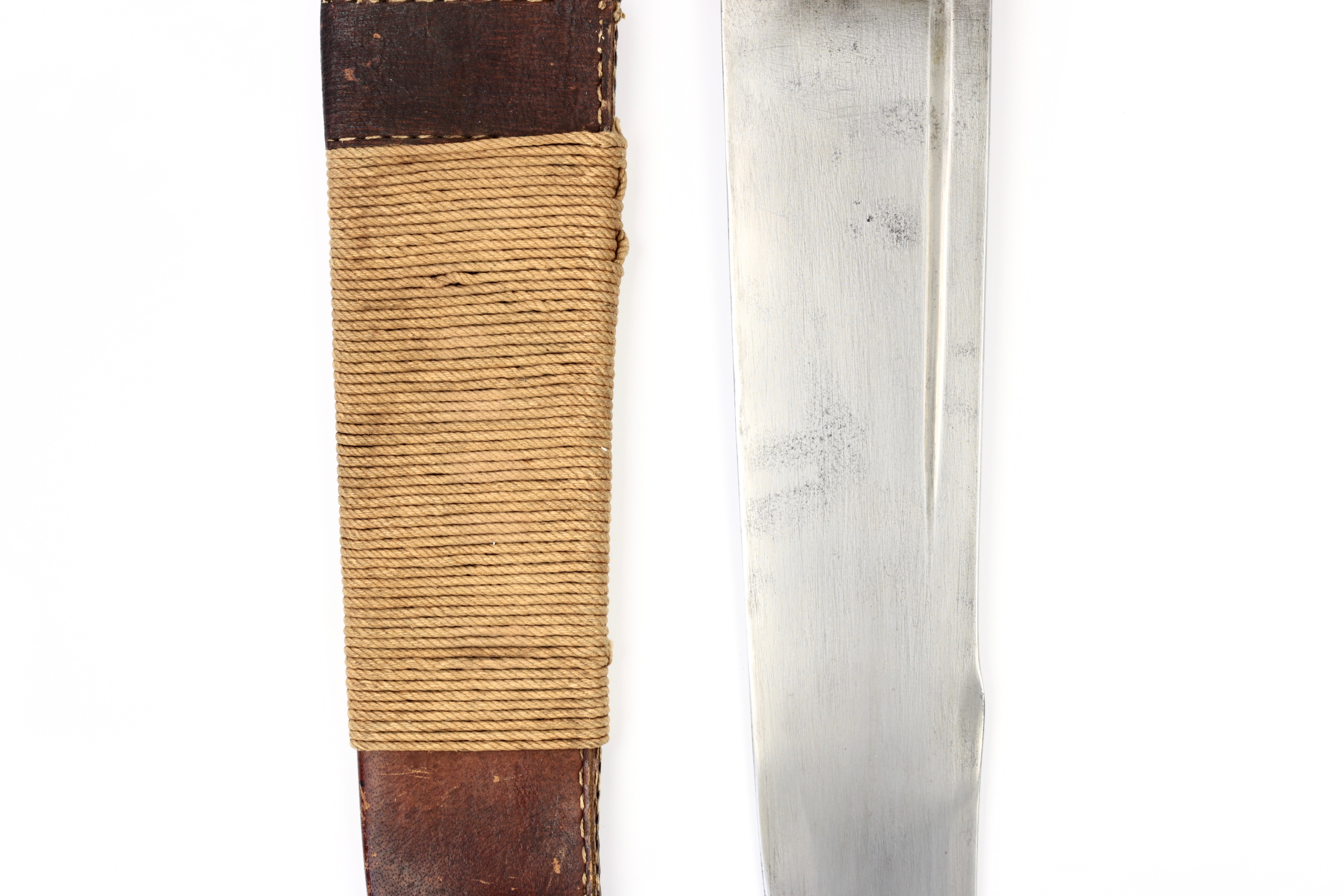 A wide-bladed antique Chinese fighting knife