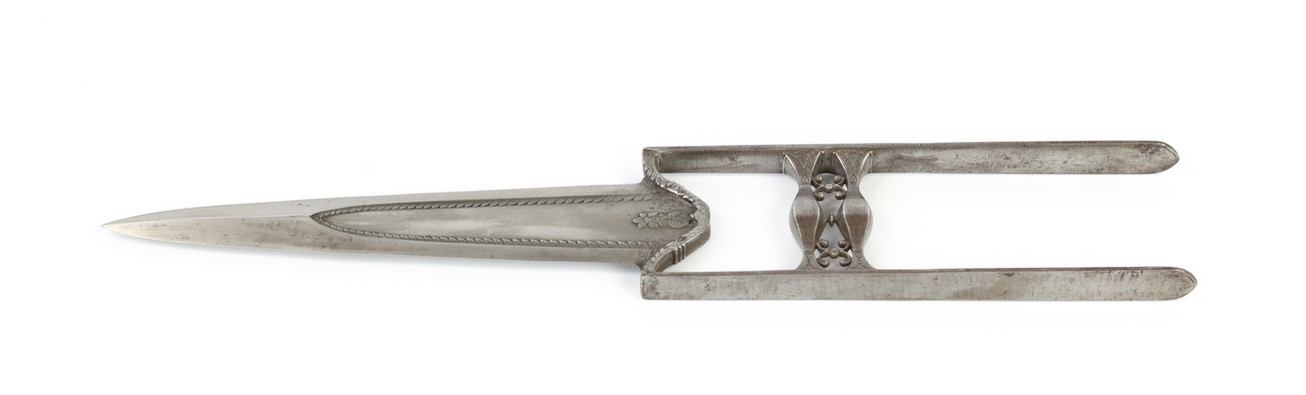 An all-steel katar of a style often attributed to Bundi.