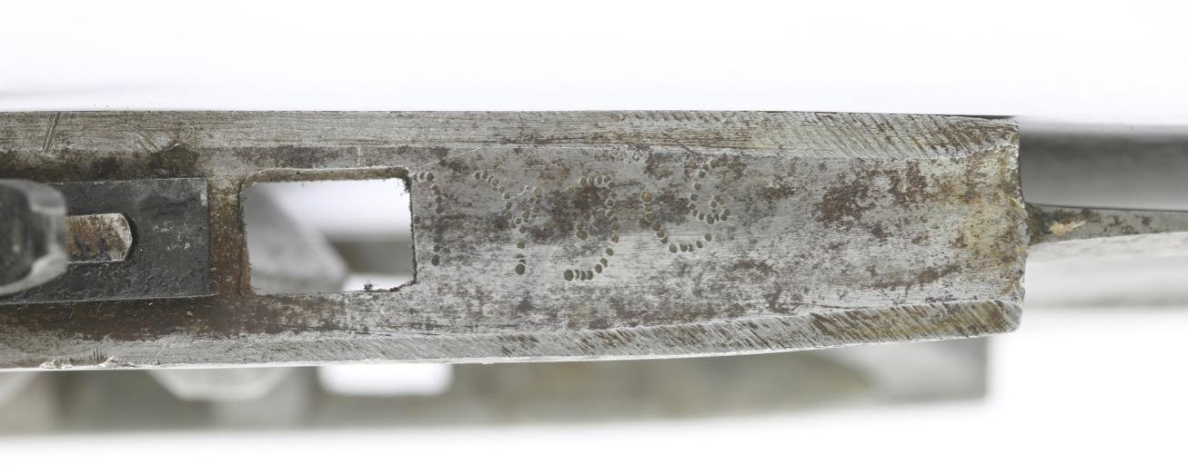Markings on an all-steel katar from the Bikanēr armory. mandarinmansion.com.