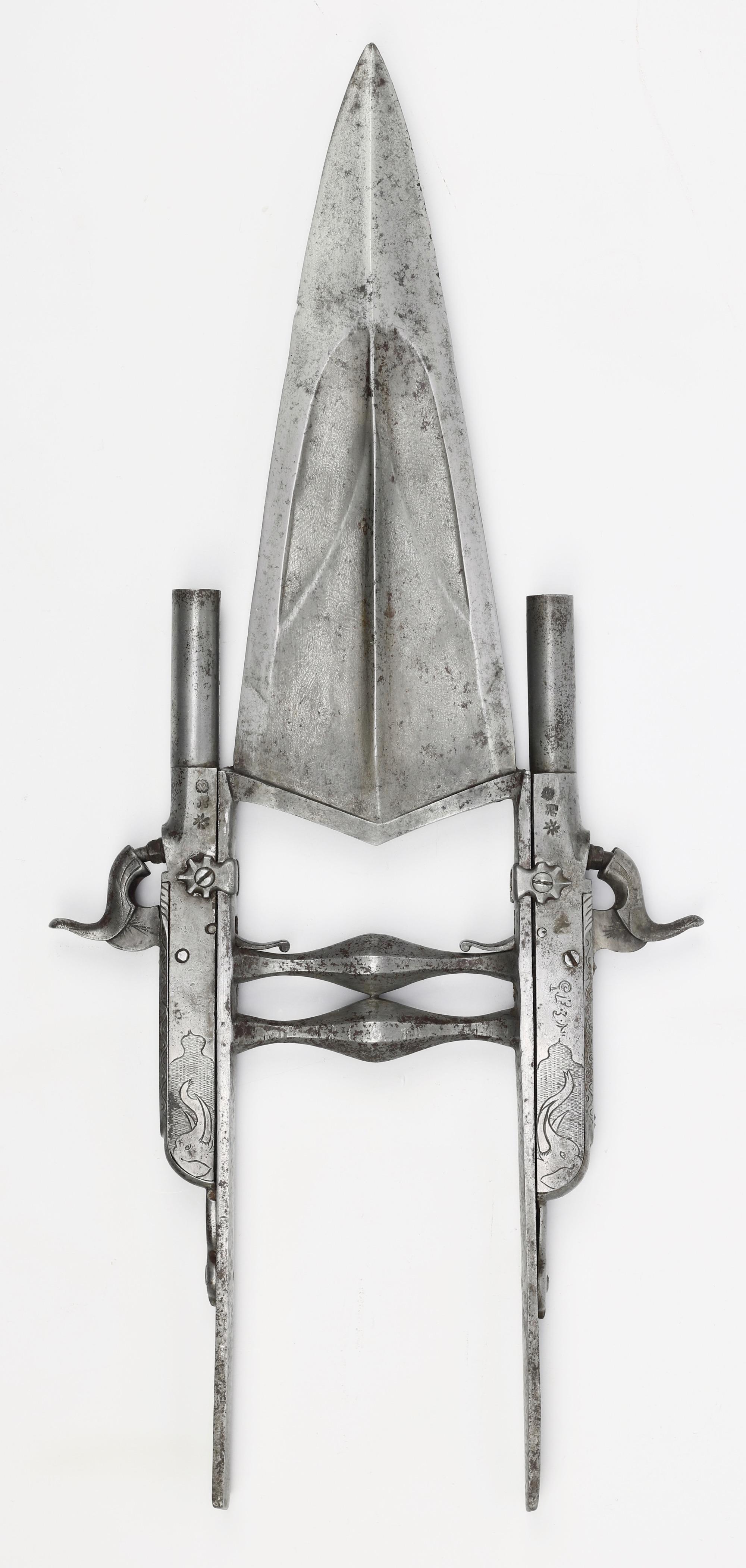 An all-steel katar from the Bikanēr armory. mandarinmansion.com.