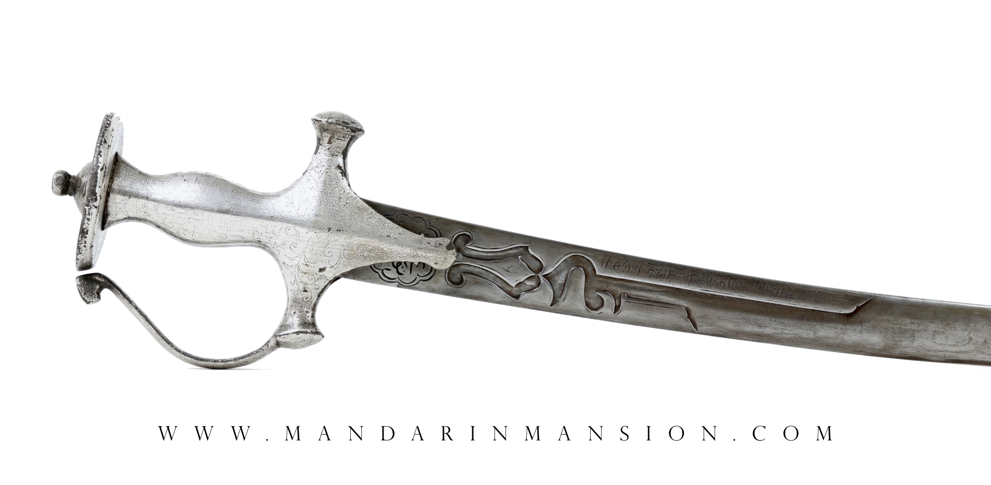 A Rare Persian style shamshir blade with Mamluk blade decoration