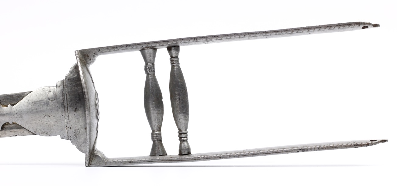 South Indian katar with European blade and Bikaner armory markings.