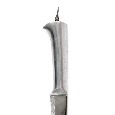 An Indian all-steel pesh-kabz style dagger with wootz blade