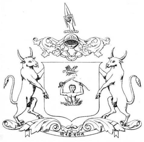 The coat of arms of Bundi. 1877.