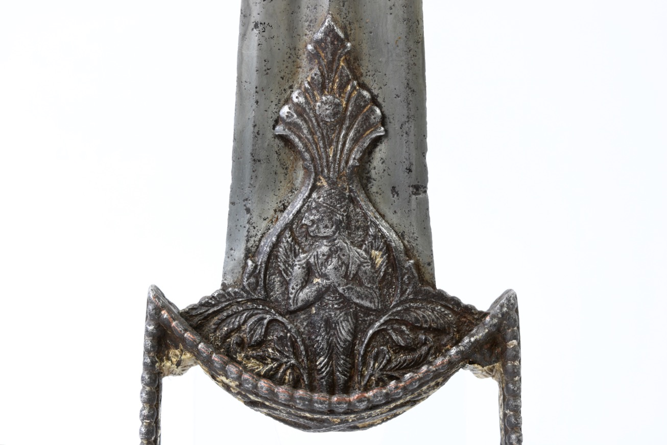 Garuda on an antique katar of a style associated with the Tanjore armory.
