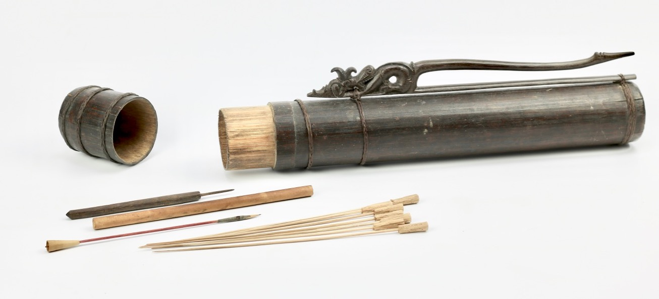 A Dayak quiver for blowgun darts