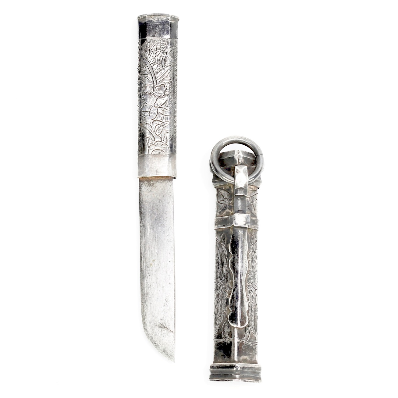 A Korean lady's silver knife or eunjangdo