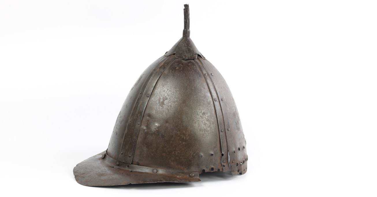 An antique Korean helmet probably from the Imjin wars