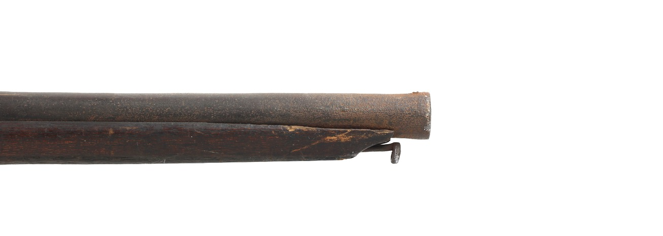 Inscription on the barrel of a Chinese matchlock musket