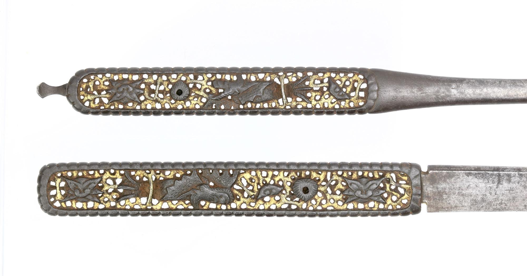 A unique set of nanban style kogai and kozuka, jointly called futakoromono.