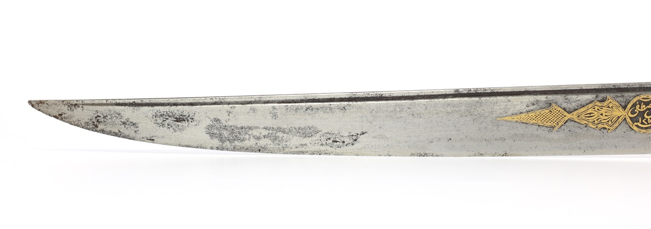 An Ottoman bichaq knife with silver repousse scabbard of the 17th century. wwww.mandarinmansion.com