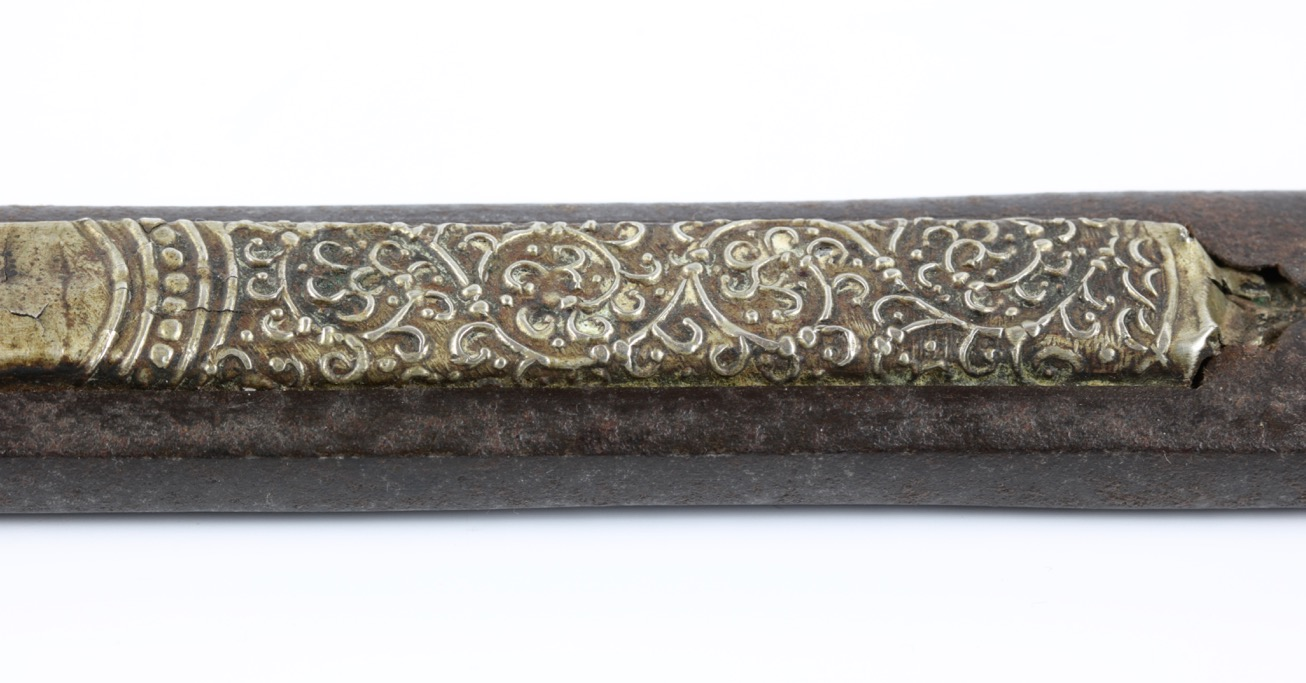 A rare Tibetan shortsword with rare pattern in its forged blade called ce rong