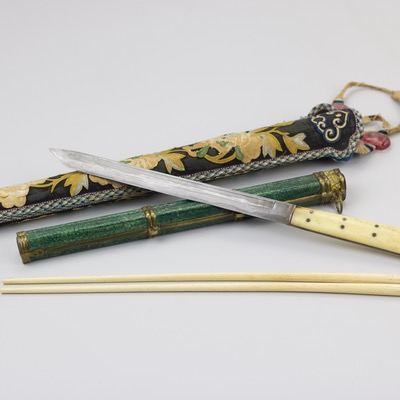 Exquisite Chinese trousse set