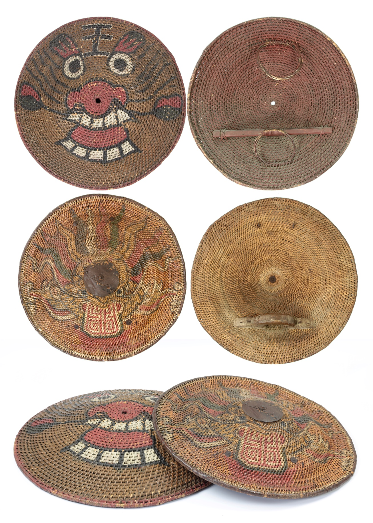 A comparison between Chinese and Vietnamese rattan shields