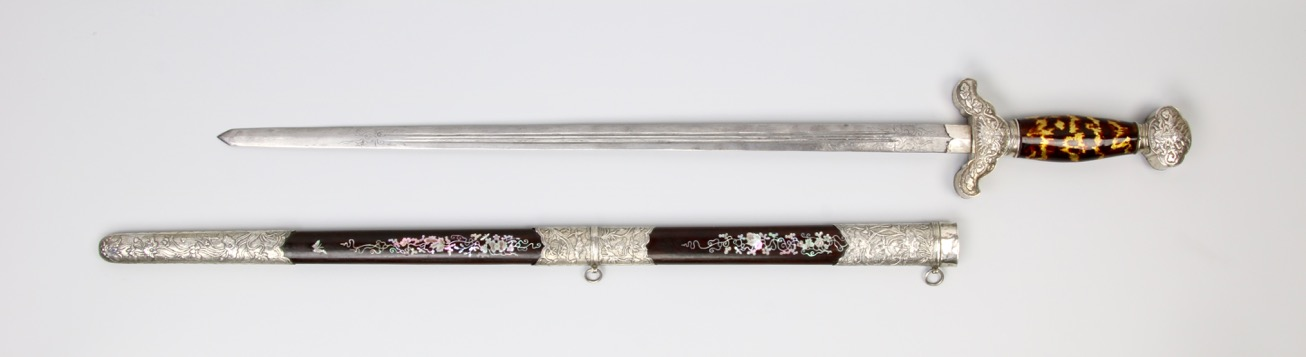 An antique Vietnamese straightsword, or kiem. mandarinmansion.com